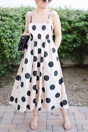 Dot Print Slip Maxi Dress