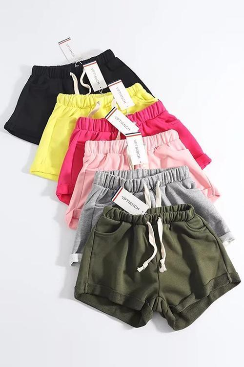 Pockets Drawstring Shorts