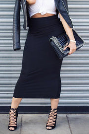 Elastic Skinny Pencil Skirt
