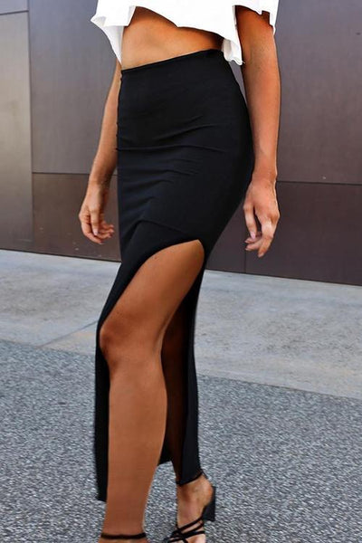 Side Slit Bodycon Skirts