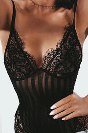 Lace Patchwork Bodysuit