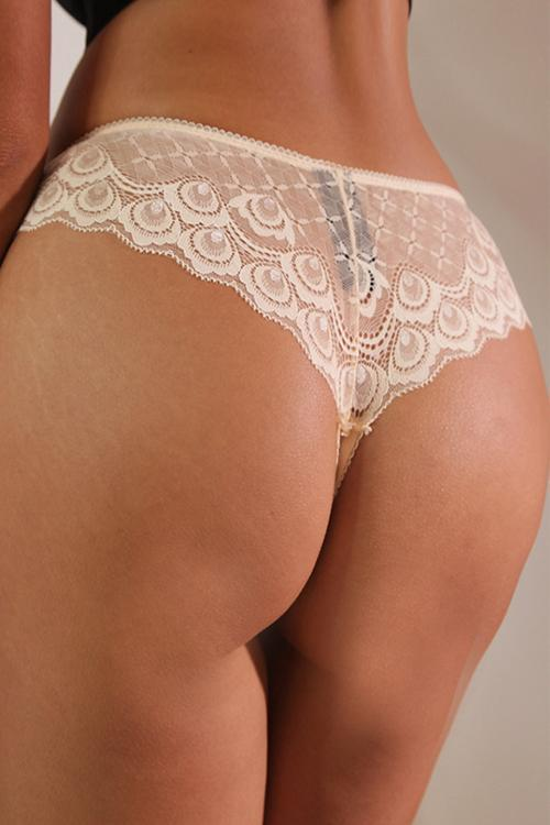 Lace See Though Thong
