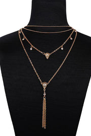 Tassels Drop Layers Necklacce