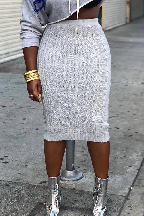 Slim Knit Skirts
