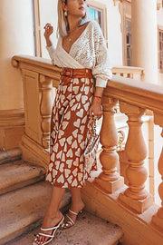Full Of Love A-Line Knit Midi Skirt