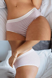 Mid Waist Color Block Panty