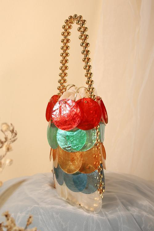 Square Shell  Handbag