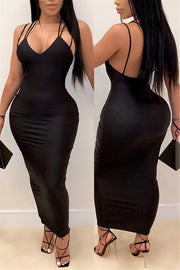 Backless Slip Bodycon Dress