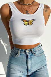 Butterfly Sleeveless Tank Top