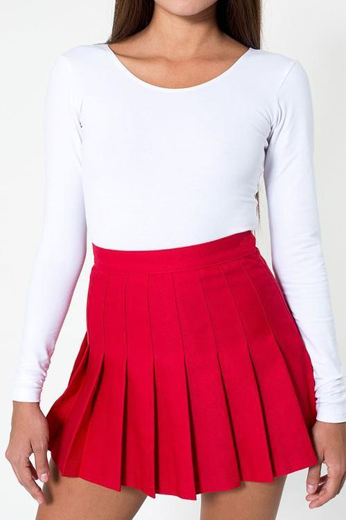 Elastic Pleated Mini Skirts