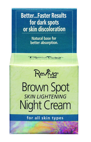 Reviva Labs Brown Spot Skin Lightening Night Cream, 1.5 oz.