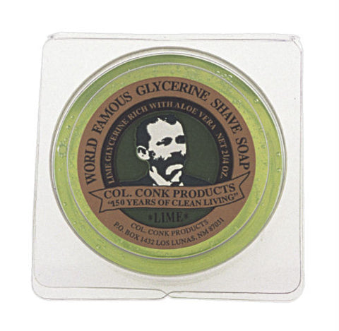 Col.  Conk Lime Glycerine Shave Soap, 2.25 oz.