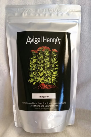 Avigal Henna Burgundy, 16oz