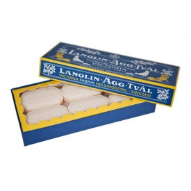 Victoria Lanolin-Agg-Tval Eggwhite Facial Soap, 50 gm, ONLINE ORDERS: SOLD ONLY IN BOXES OF SIX SOAPS FOR $23.70