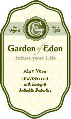 Garden of Eden Shave Gel with Aloe Vera, 8 oz.