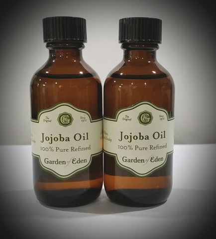 Garden of Eden Organic Jojoba Oil, 2 oz bottle with dropper