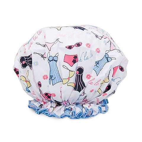Spa Sister Shower Cap, Lingerie Print
