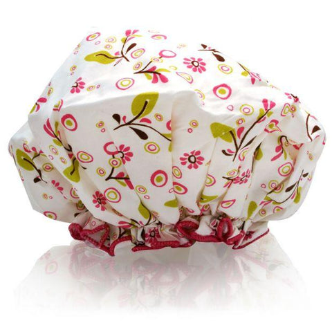 Spa Sister Shower Cap, Olive Vines