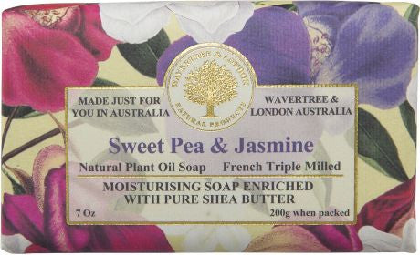Wavertree & London Sweet Pea & Jasmine Bar Soap, 200 gm