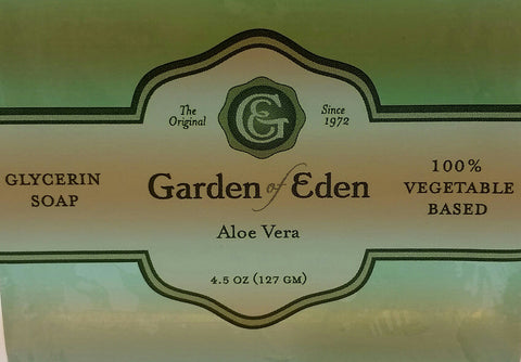 Garden of Eden Glycerin Soap - Aloe Vera Bar