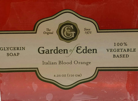 Garden of Eden Glycerin Soap - Italian Blood Orange Bar