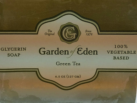 Garden of Eden Glycerin Soap - Green Tea Bar