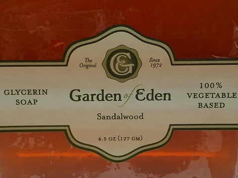 Garden of Eden Glycerin Soap - Sandalwood Bar