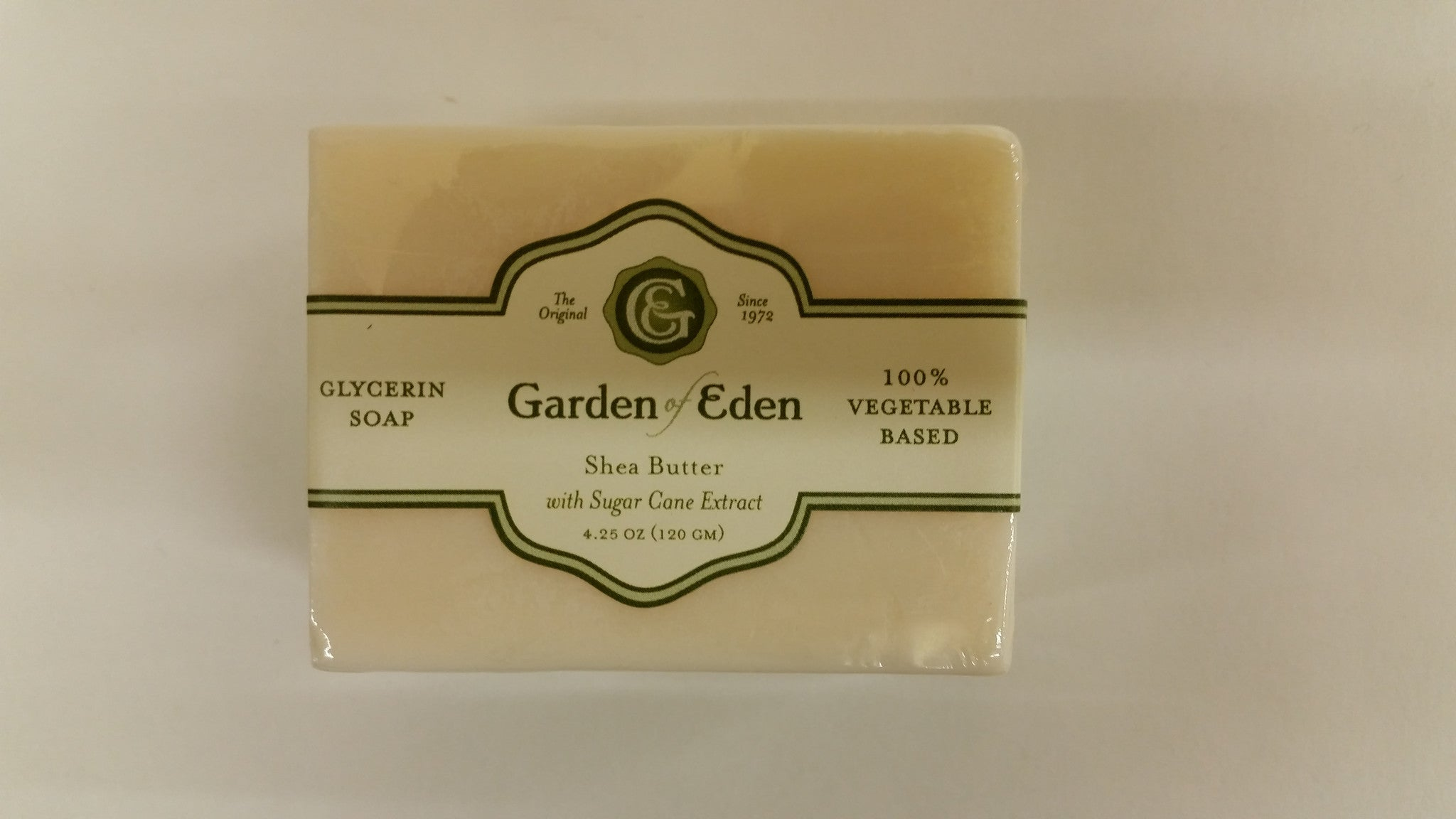 Garden of Eden Glycerin Soap - Shea Butter with Sugar Cane Extract Bar