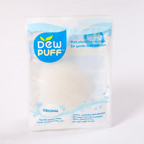 Dew Puff Natural Konjac Cleansing Sponge, Original