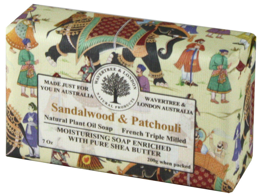 Wavertree & London Sandalwood & Patchouli Bar Soap, 200 gm