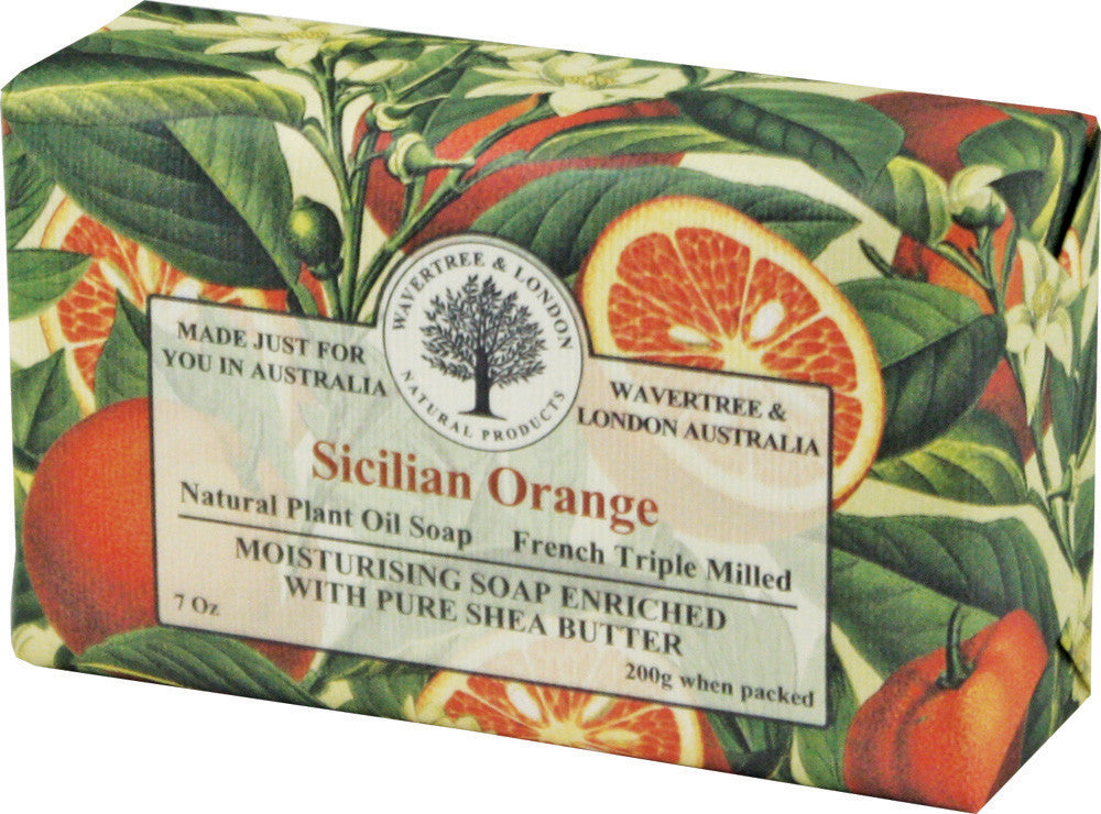 Wavertree & London Sicilian Orange Bar Soap, 200 gm