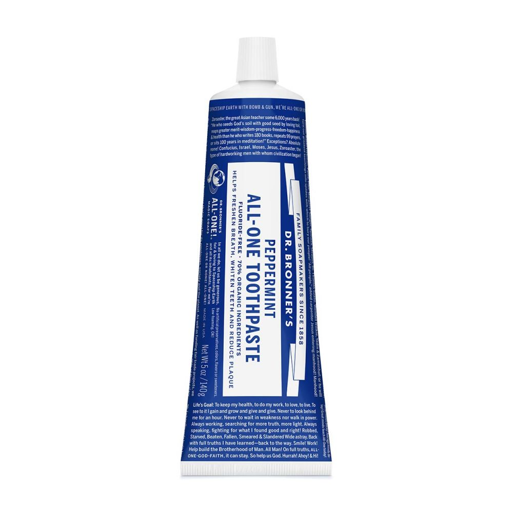 Dr. Bronner's Toothpaste, 5oz, Peppermint