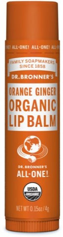 Dr Bronner's Organic Lip Balm, Orange/Ginger