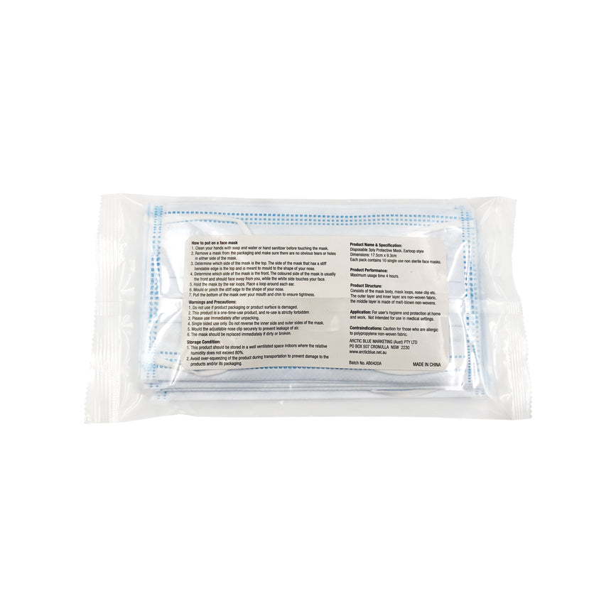 Surgical Face Mask - Type II - 10 Pack - Arctic Blue Covid19