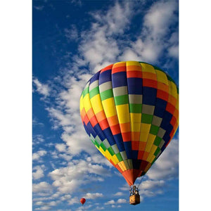 Blue Sky with Colorful Hot Air Balloons Diamond Painting Art