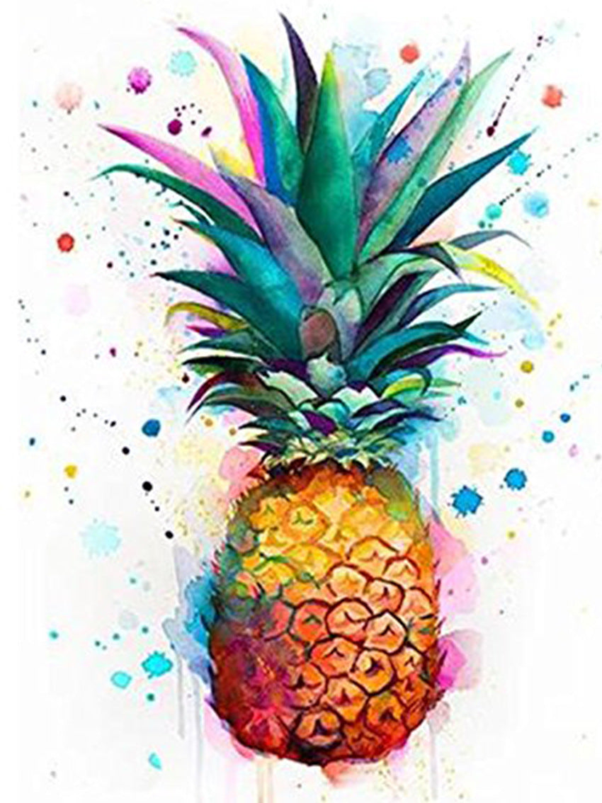 Colorful Painting Pineapple Art Diamond Painting Art