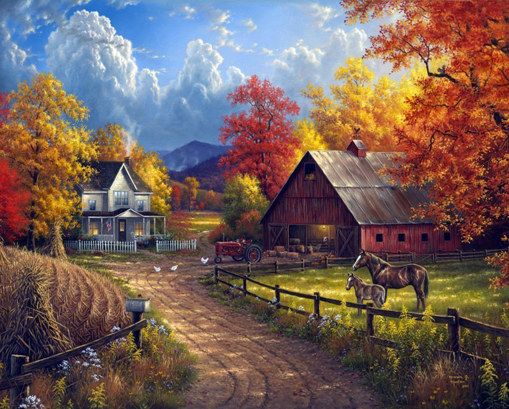 Abraham Hunter Art Country Blessings Diamond Painting Art Kits