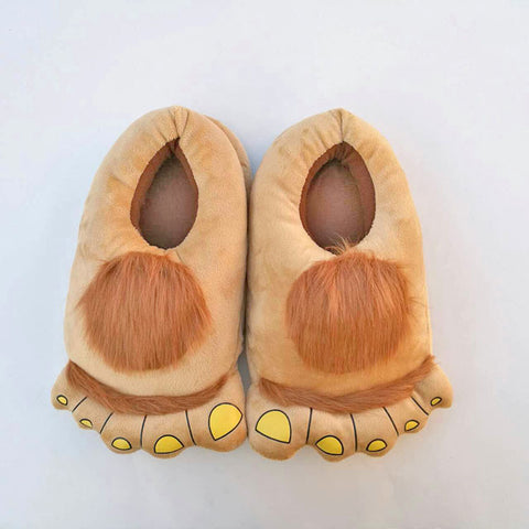 Big Toe Bigfoot Slippers Plush Alien House Shoes