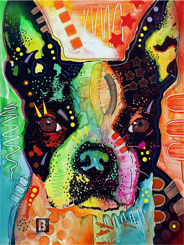 Boston Terrier Colorful Painting Diamond Painting Art Kits