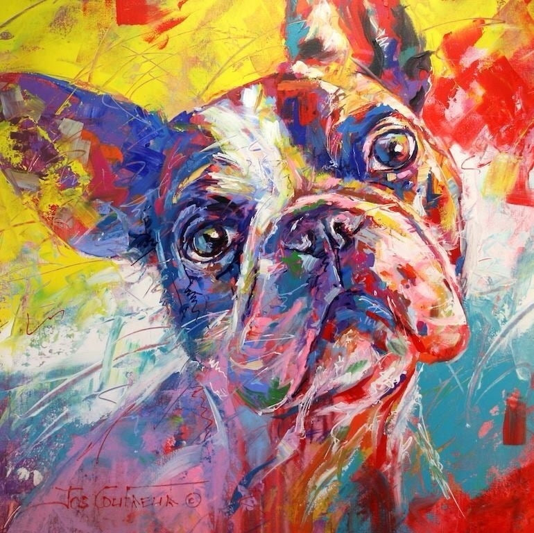 Color Painting Boston Terrier Dog Diamond Painting Art Kits