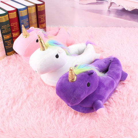 Colorful Cute Unicorn Slippers