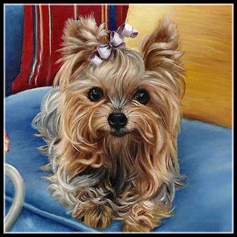 Cute Pet Dog Yorkshire Terrier Diamond Painting Art Kits