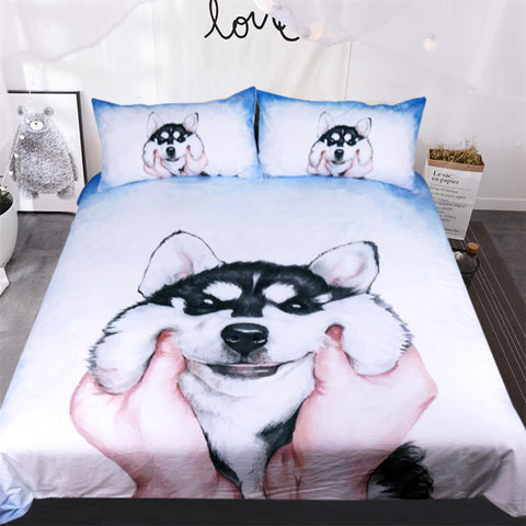 Cute Husky Dog Duvet Covers Bedding Sets