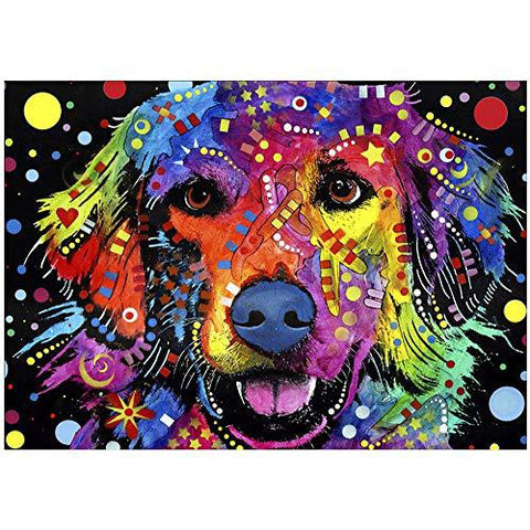 Dean Russell Golden Retriever Dog Art Diamond Painting Art