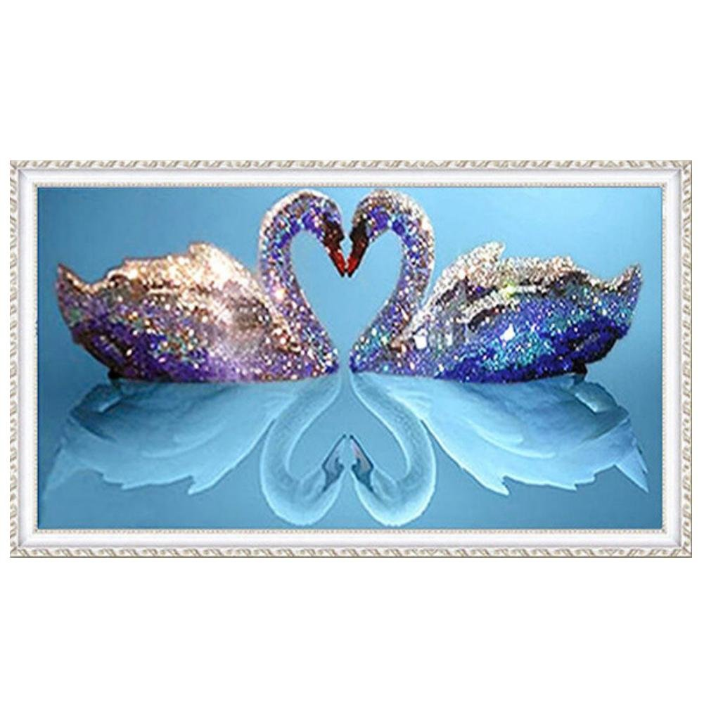 Dreamland Romantic Swan Embroidery Paintings 5D Full Drill Diamond Painting
