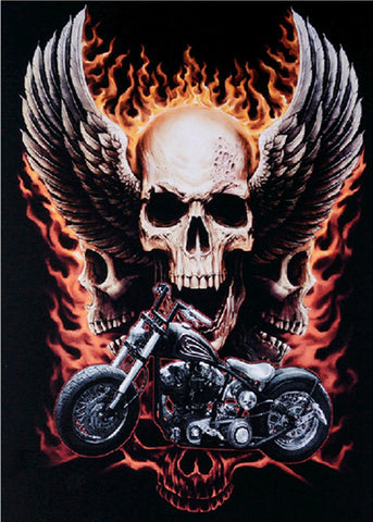 Eagle Skull Head Harley Davidson Motor Diamond Painting Kits