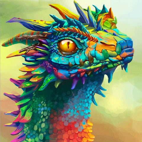 Emerald Green Cute Dragon Diamond Painting Kits