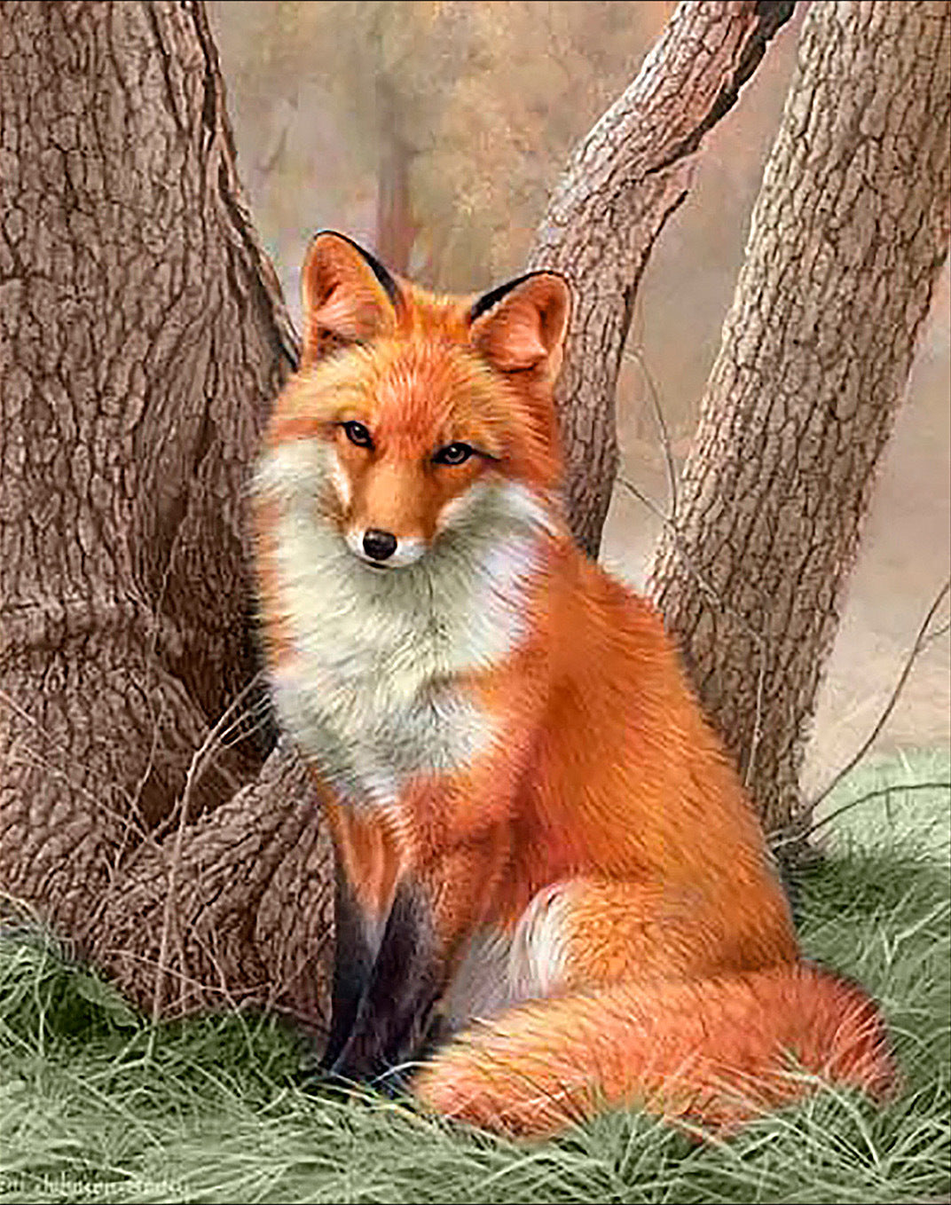 Forest Red Fox Diamond Painting Art