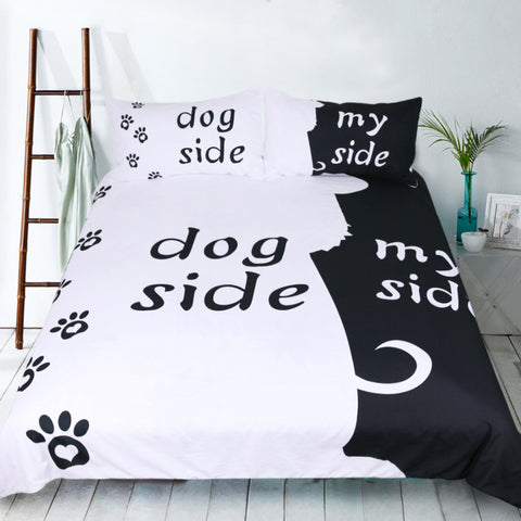 Funny Dog Side and My Side Duvet Covers Bedding Sets
