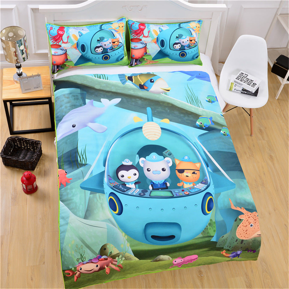 Kids Cartoon Octonauts Duvet Covers Bedding Sets